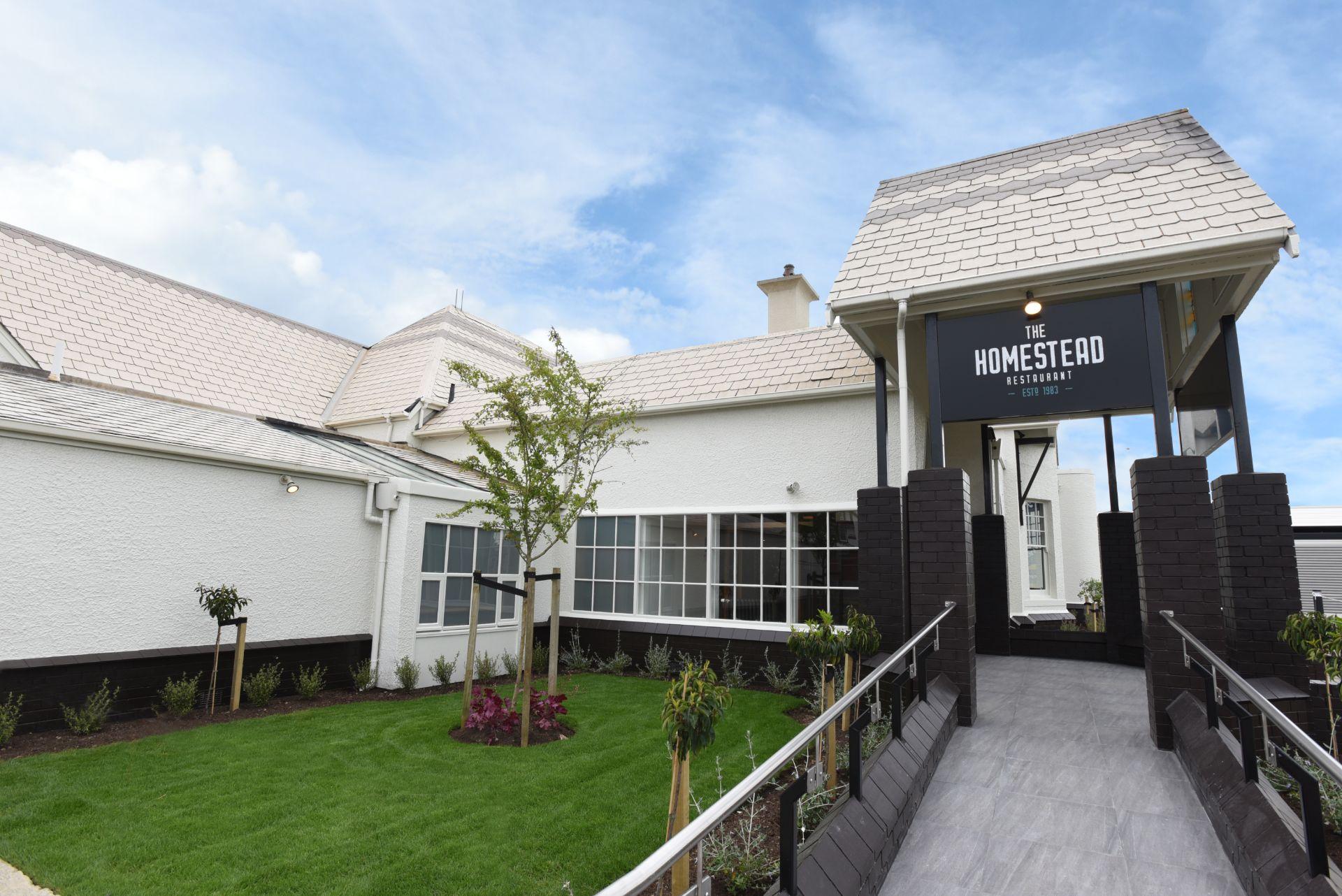 Main entrance to The Homestead Restaurant Invercargill