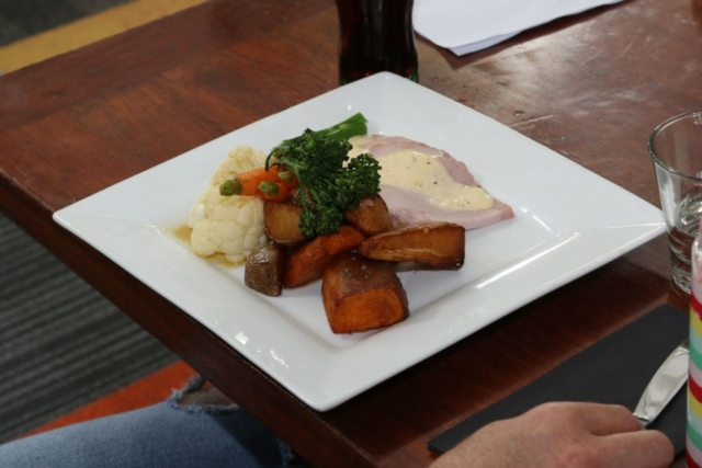 Roast of the day meal at The Homestead Restaurant