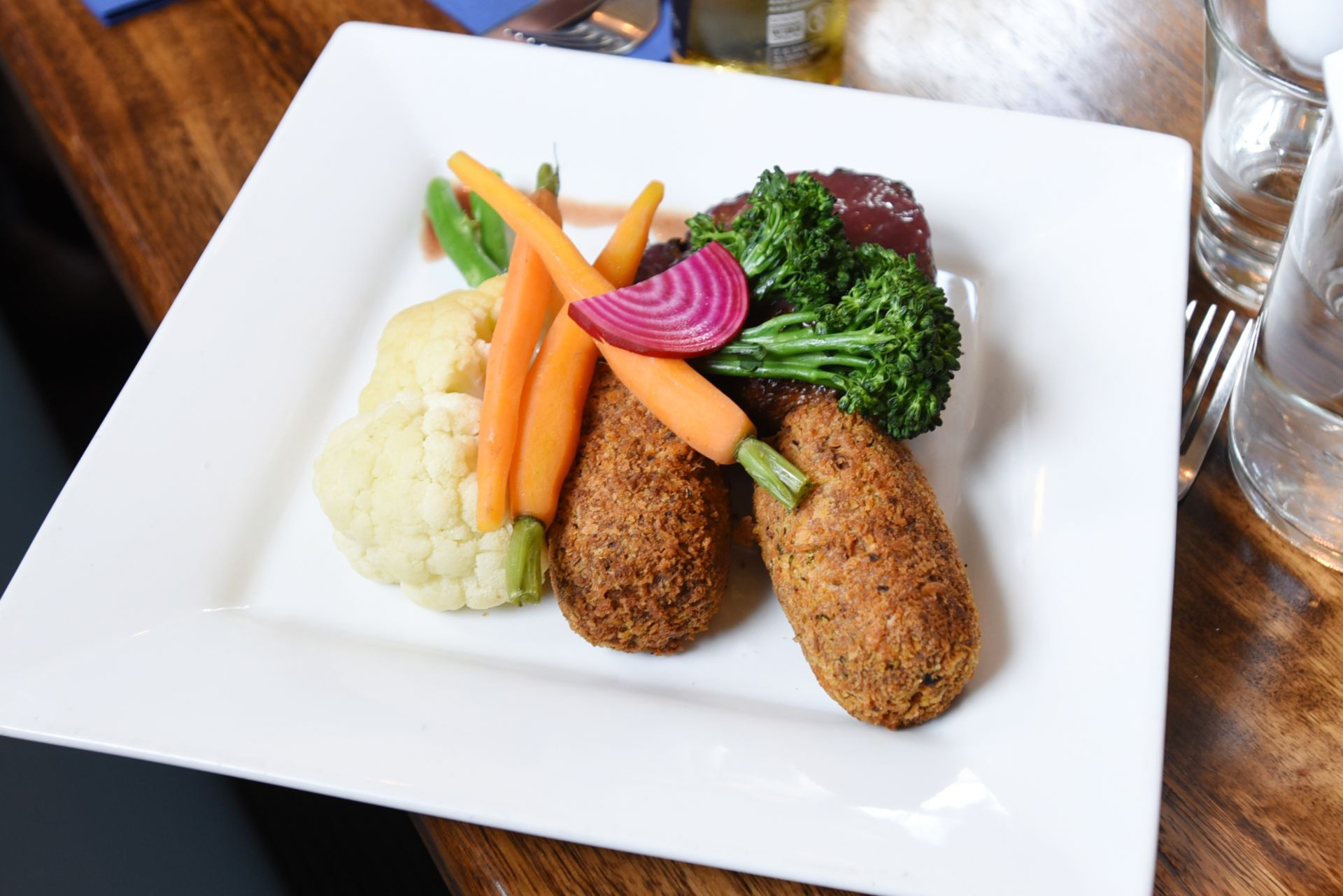 BBQ pulled lamb croquettes at The Homestead Restaurant
