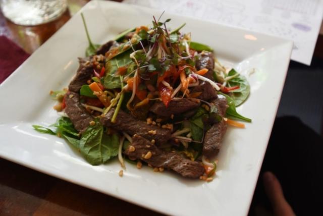 Thai Beef Salad at The Homestead Restaurant