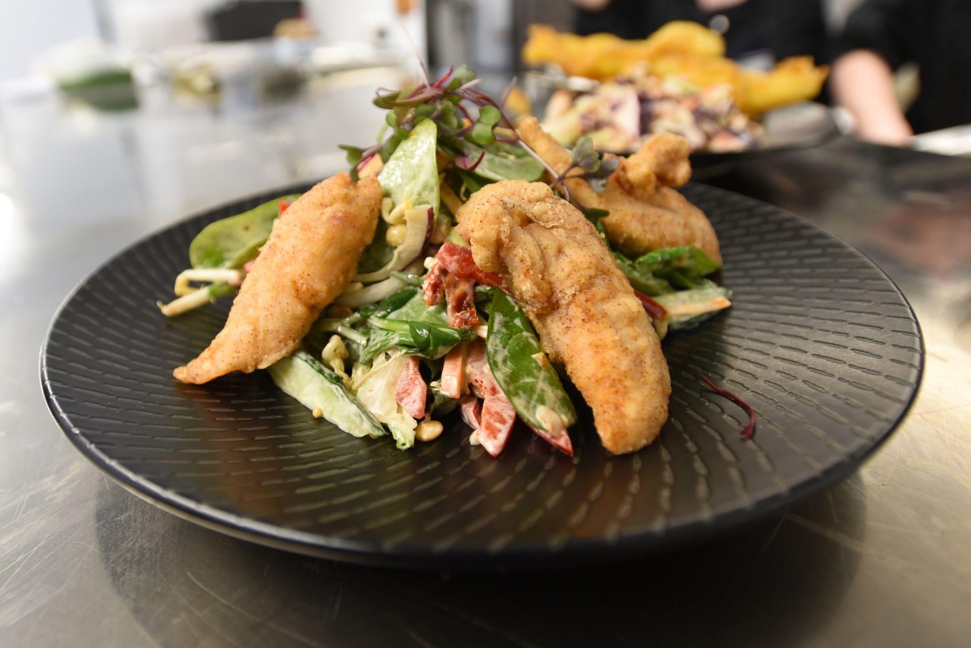 Crispy Chicken Salad at The Homestead Restaurant