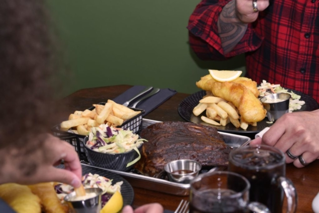 Blue Cod and pork spare ribs meals at The Homestead Restaurant