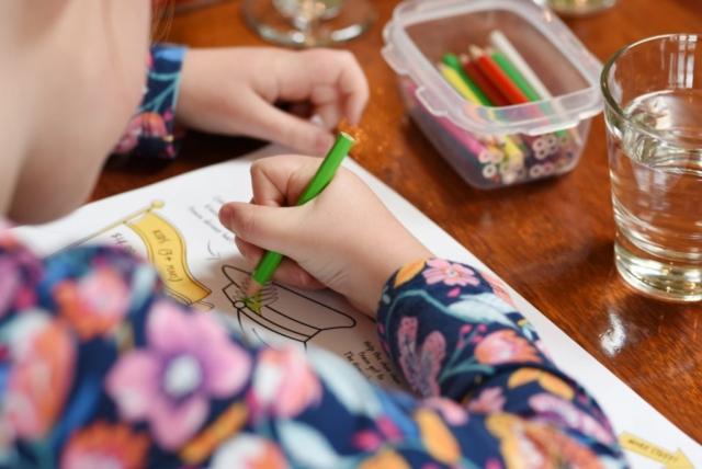 Children's activity menu at The Homestead Family Restaurant